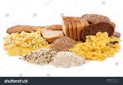 carbohydrates of rice carbohydrate food isolated stock photo 56950426
