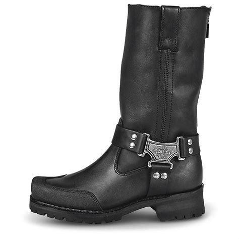 biker boots for sale men s milwaukee 174 drag back zip harness boots black