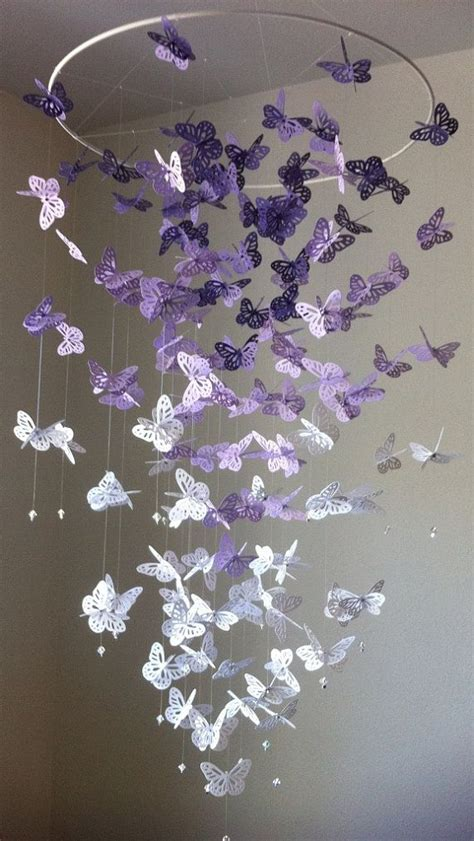 How To Make A Paper Butterfly Mobile - butterfly chandelier mobile diy tutorials