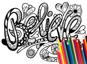 coloring pages 42 inspirational words download gozen