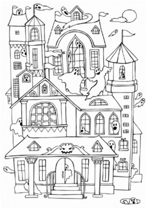 haunted castle coloring page maestra de primaria casas para colorear