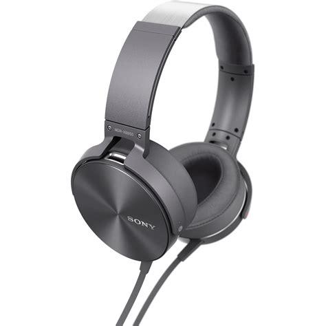 Headset Sony Bass sony mdr xb950ap bass headphones gray mdrxb950ap h b h