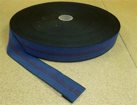 upholstery straps 12 metres blue 2 quot elasticated upholstery webbing for