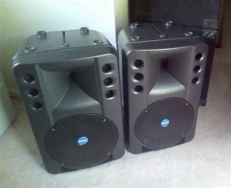 Speaker Rcf Italy Mackie Industrial Rcf Eaw Powered Speakers Pair Made In Italy Reverb