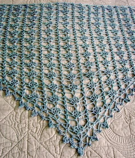 stylish easy crochet crochet lace shawl  summer