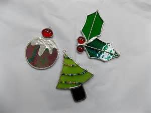 christmas stained glass tree decoration workshop stained