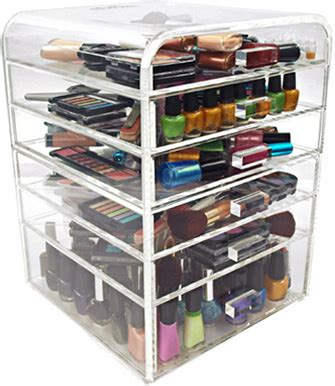 clear acrylic makeup organizer w drawers 7 ediva