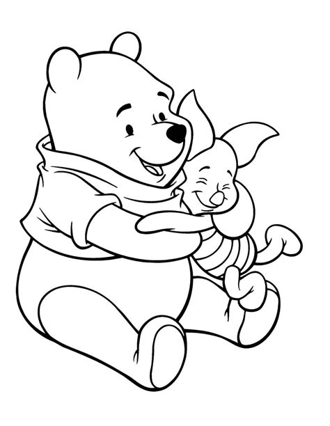 tag winnie the pooh and piglet coloring pages printable