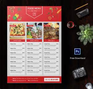 food menu template free menu template 21 free psd eps ai indesign word pdf