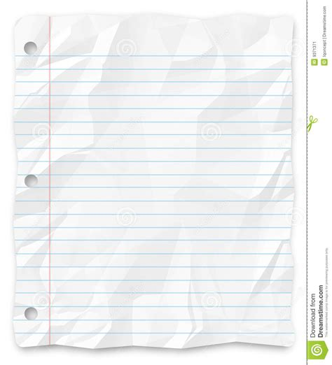writing paper background student writing paper lined three punched stock image