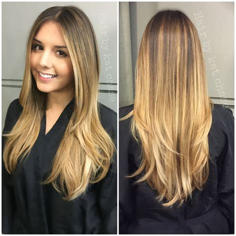 blonde balayage highlights straight hair blonde balayage ombre on straight hair haircolor and