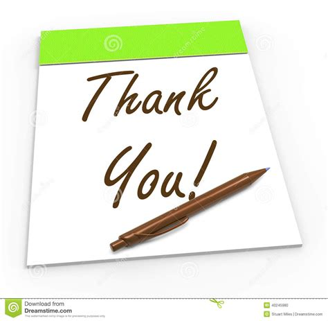 Thank You Letter Meaning thank you notepad means gratitude and stock illustration