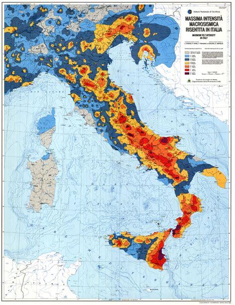 italy earthquake map italian seismic hazard map maps
