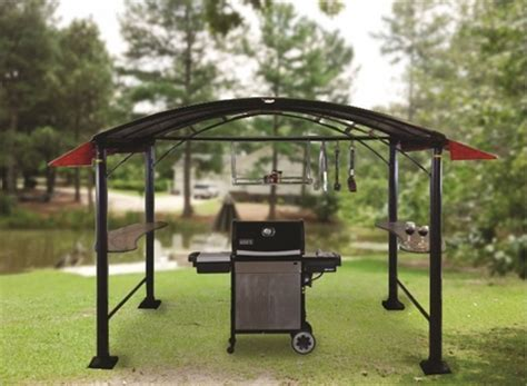 grill awnings shade trends gzb awn 201 grillzebo set of 2 awnings