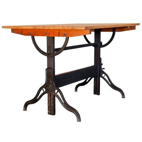 Drafting Table Furniture Vintage Drafting Table By Hamilton At 1stdibs