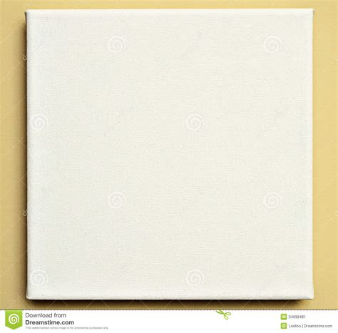 how to hang canvas white canvas on the wall stock image image 34698481