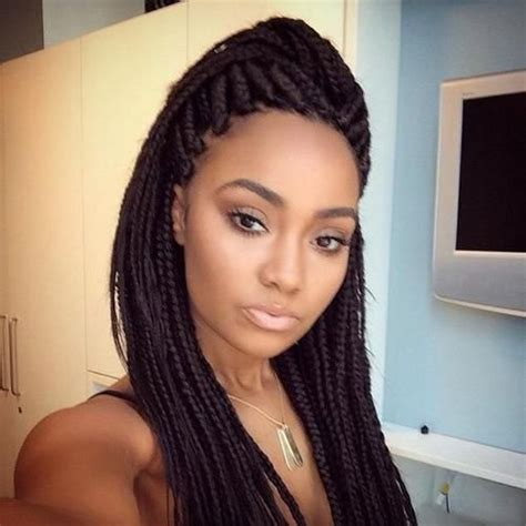 pictures of fine box braid hairstyles for black women mixed girls with box braids pictures to pin on pinterest