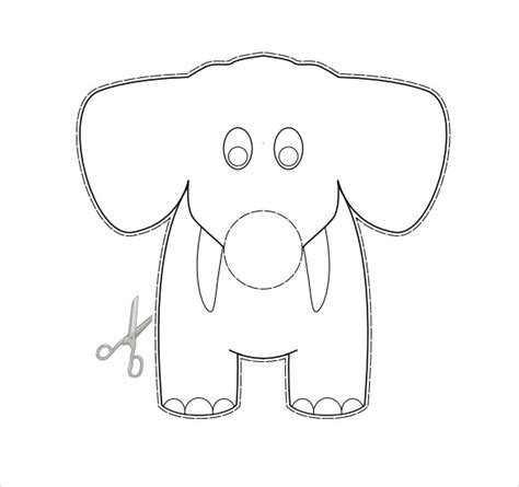 elephant cut out template elephant cut out templates images