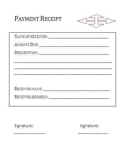 Received With Thanks Receipt Template by Payment Received Receipt Template Kinoroom Club