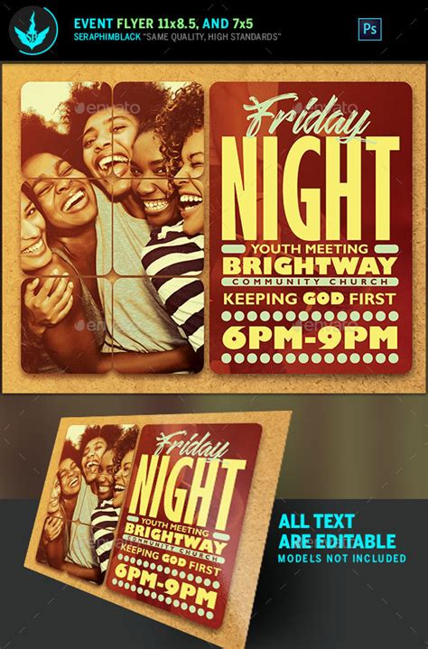 church youth ministry flyer poster template by junaedy ponda on