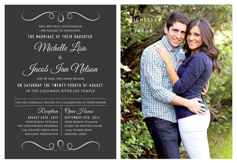 Wedding Announcements With Photos by Wedding Invitation Ideas Utah Announcements Utah