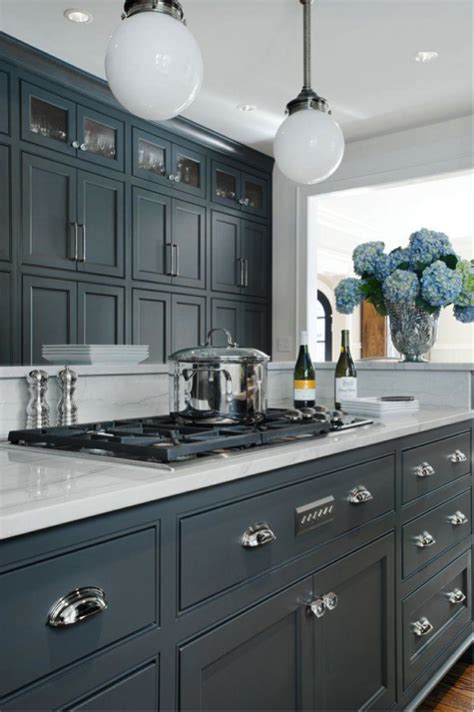 gray blue kitchen trend alert grey cabinets in the kitchen homedesignboard