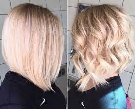 diagonal bob haircut curly hair 30 best long blonde bob short hairstyles haircuts 2017