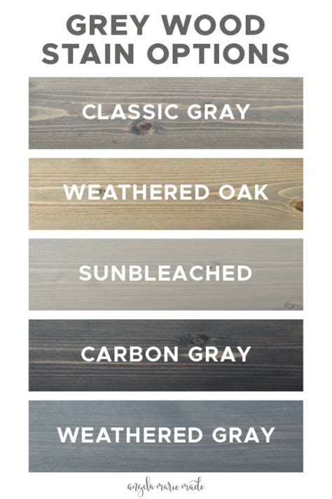 grey wood stain options angela marie