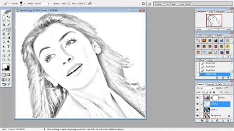 caricature tutorial photoshop cs3 how to make pencil drawing in photoshop cs3 it s easy to