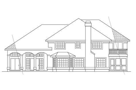 view home plans house plans rear view lot home design and style