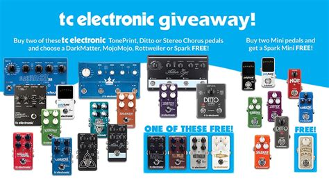 Electronic Giveaways - great tc electronic giveaway absolute music absolute music