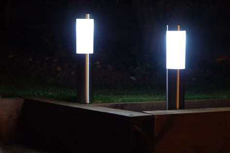 solar l post and planter solar l post lights with planter home design ideas