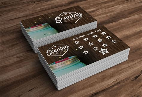 Scentsy Frequent Buyer Card Template by Make Your Own Business Card St Loyalty Cards And Scentsy