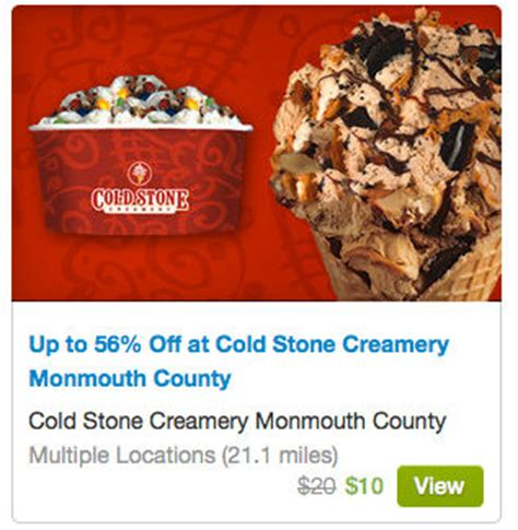 Coldstone Gift Cards - coldstone creamery 50 55 off gift cards 10 for only 5 or 20 for only 10 and more