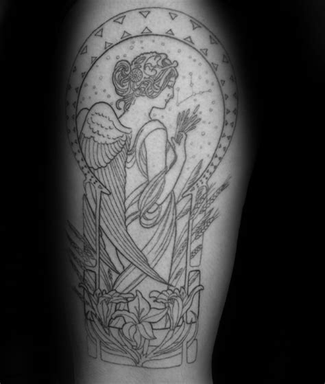 virgo tattoo for men 70 virgo tattoos for astrology ink designs ideas