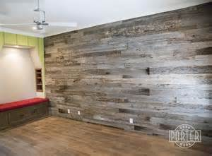 Kitchen Islands White reclaimed tobacco barn grey wall covering in paradise