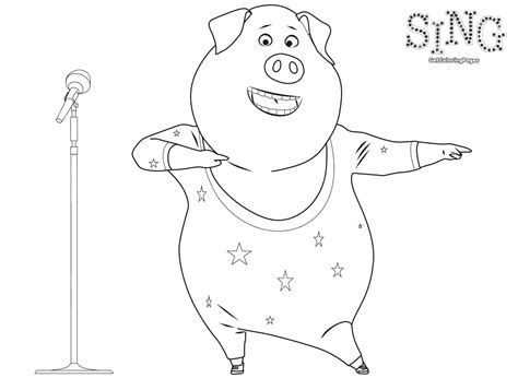 who sings in color sing coloring pages getcoloringpages