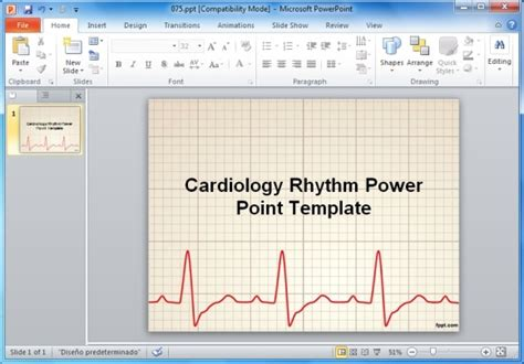 Top Premium Free Animated Heart Rate Powerpoint Templates Cardiology Powerpoint Template