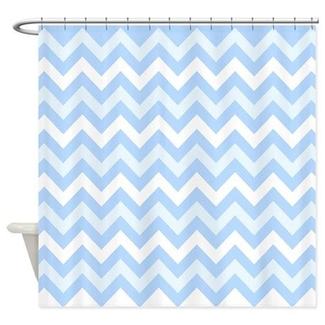blue chevron shower curtain chevron 7 blue shower curtain by ornaartzi