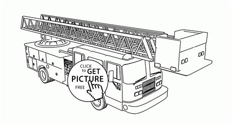 firetruck 25 transportation printable coloring pages tiller fire truck coloring page for kids transportation