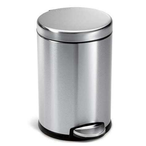 Kitchen Stainless Steel Trash Can by Simplehuman 4 5 Liter Fingerprint Proof Brushed Stainless