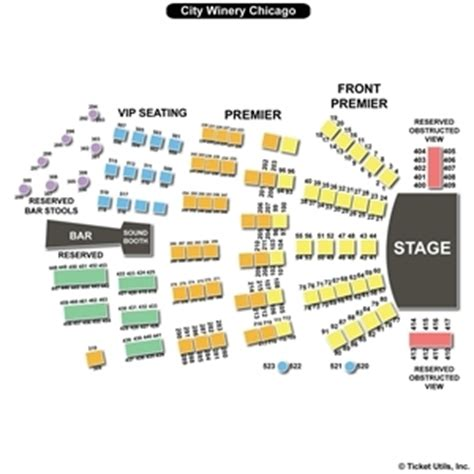 city winery seating chart city winery chicago seating charts