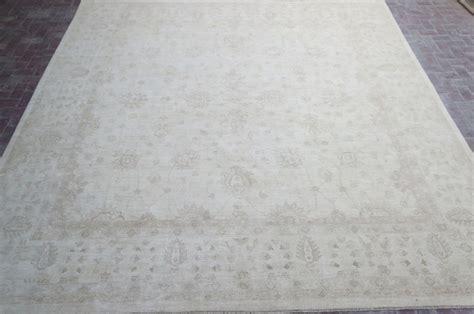 13x13 area rugs ivory handmade chobi peshawar 13x13 square rug earthy tones wool on cotton ebay