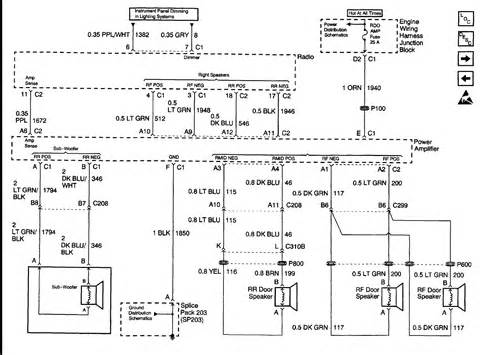 2000 gmc radio amp wiring diagram website