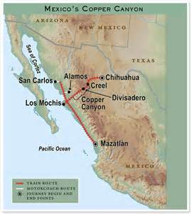 Copper Canyon Mexico Map route map mexico s copper canyon train journey