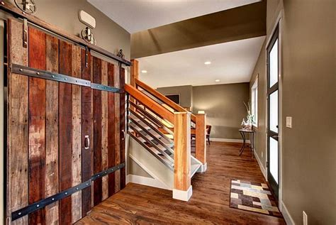 Salvage Kitchen Cabinets by Rustic Entryway With Glass Panel Door Amp Hardwood Floors