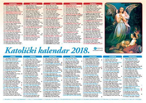Kalendar S Blagdanima 2018 Jednolisni Kalendari 2018