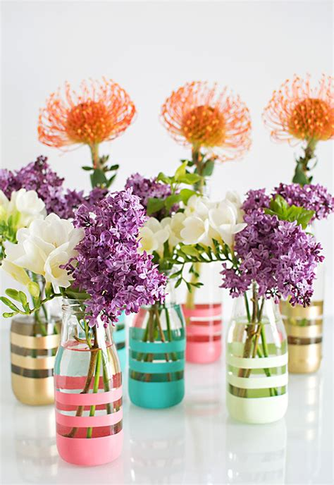 Diy Bottle Vase by Diy Painted Bottles Homey Oh