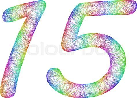 15 years anniversary   rainbow sketch     Stock Vector