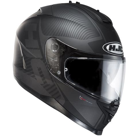 Motorradhelm Panda by Hjc Is 17 Mission Black Free Uk Delivery